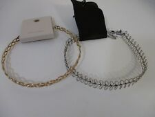 Urban Outfitters UO Wire Tattoe Choker $50 Gold AND SILVER SET OF 2 PIECES