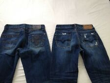 Guess Mens Desmond Relaxed & Falcon Bootcut Blue Jeans Size 29 Inseam 32 2 Pair