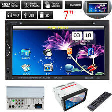 """7"""" Double 2Din Car Stereo Radio Video DVD CD Player Bluetooth iPod MP5 Player"""