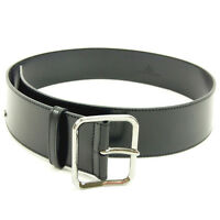 Gucci belt Black Silver Woman Authentic Used Y5119
