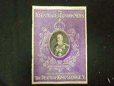 1936 JAN 25 THE ILLUSTRATED LONDON NEWS MAGAZINE -DEATH OF KING GEORGE V-ST 4159