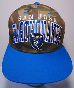 San Jose Earthquakes MLS Soccer Camouflage ADIDAS Spell Out Snapback Hat Cap