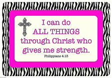 """I can do all things through Christ""  Peel & Stick Vinyl Laptop Cover"