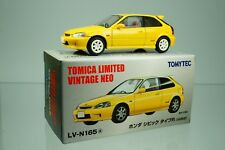 TOMYTEC TOMICA LIMITED VINTAGE NEO LV-N165a Honda CIVIC Type R Yellow 1/64 New!!