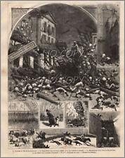 1881 : ILLUSTRATION / GRAVURE: CYCLONE îLE de la RéUNION
