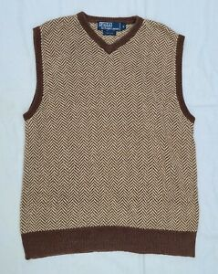 Ralph Lauren Polo Vintage Men's 100% Silk Sweater Vest