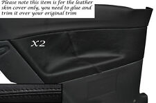 BLACK STITCHING 2X REAR DOOR CARD TRIM LEATHER COVERS FITS VW POLO MK6 3 DOORS