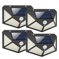 100LED Solarleuchte Solarlampe Fluter Strahler Scheinwerfer Wandlampe Außenlampe