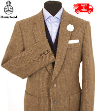 Harris Tweed Jacket Blazer Size 40R Country Weave Hacking Hunting GREAT COLOUR