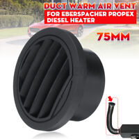 75mm Diesel Ducting Warm Air Vent Outlet For Webasto Eberspacher Propex Heater