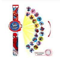 The avengers spiderman watch reloj projection proyector kids niños marvel