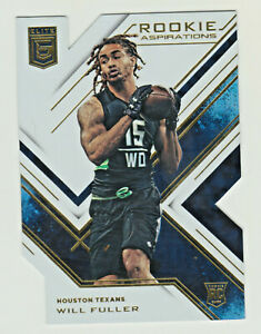 2016 Panini Donruss Elite ROOKIE ASPIRATIONS RA-WF WILL FULLER RC Texans DIE CUT
