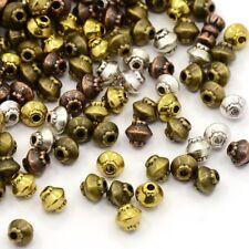 30x Metall Perlen Spacer DOPPELKEGEL Antik Vintage 5mm MIX Zwischenperlen BICONE