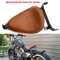 Motorcycle Flame Brown Seat Mount Springs Bracket For Harley Chopper Bobber