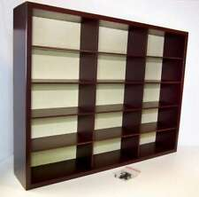 SUPER 15 SECTION DISPLAY CABINET FOR YOUR 1:43 SCALE MODEL CARS OR 1:24 M/BIKES