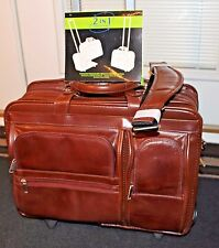 Faux Leather Business Case with Removable Wheels McKLEIN 2 IN 1