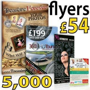 A5 Full Colour Gloss leaflets / flyers on 150gms - PLUS 25 FREE POSTER