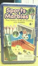 Sports Marbles Play Football & Ten Pin Bowling
