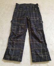 SIMS Men's Brown Plaid Snowboard Pants-Size L-Excellent!!!!