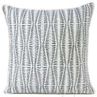 Grey Printed Kantha Throw Sofa Couch Pillow Cushion Cover Case Bohemian Accent B