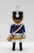 Hussard Soldat Bleu Blanc A Playmobil à Officier Garde Napoléon Pression Custom