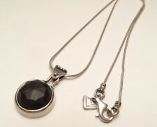 RETIRED SILPADA BLACK MATTE ONYX  PENDANT NECKLACE STERLING SILVER 925