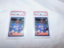 Lot of 2 PSA Graded Baseball Cards 1986 FLEER #81 DWIGHT GOODEN