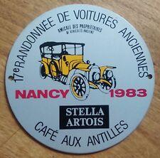 BADGE DE CALANDRE 17e Randonnée de Voitures Anciennes 1983 Nancy. Stella Artois