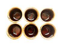 Set of 6 McCoy 7010 USA Brown Drip 8 oz. Ramekin Bowls