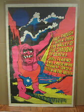 vintage Black light Meanest son of a b*tch in the valley poster 1971  3191