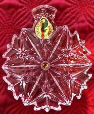 Waterford 2014 SNOWFLAKE WISHES AMBER PEACE Crystal Ornament NIB - Slovenia
