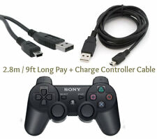 2.8M Long Play + Charge Cable for PS3 Controller GamePad Charging Charger Lead