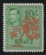 Fiji 1950 SG266a 10s orange & emerald lightly mounted mint