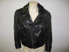 Vintage 1950s CALIFORNIAN Black HORSEHIDE Leather Motorcycle Police Jacket