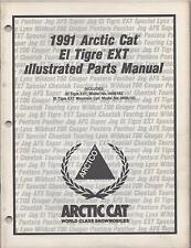 1991 ARCTIC CAT SNOWMOBILE  EL TIGRE EXT  p/n 2254-656  PARTS MANUAL (010)