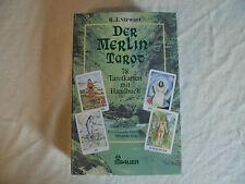 vintage Merlin Tarot Card Deck & Buch von R.J. Stewart, Orakel Karten, Esoterik