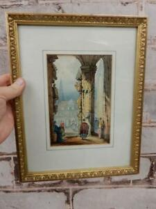 REALLY OLD  painting  framed antique picture