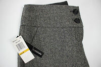 NWT MYMICHELLE Size 3 Women's Flat Front Black Gold Metallic Tweed Cropped Pant