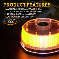 XPRITE Amber Sunbeam 240 LED High Intensity Strobe and Rotating Beacon Light