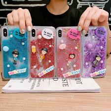 3D Doll Cute Glitter Quicksand Phone Case Cover For iPhoneX 6s 7 8Plus XR XsMax