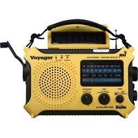 Kaito KA500 Voyager Emergency Radio Solar Crank AC Adapt - Yellow