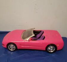 Barbie Pink Corvette Convertible Car / Mattel RC Car  -NO REMOTE-