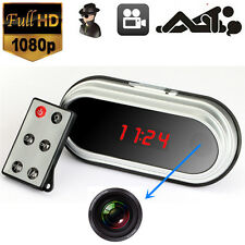 HD SPY Hidden Video Camera Remote Table Mirror Alarm Clock Mini DV DVR 1080P SM