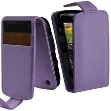 Housse Coque Etui Portefeuille Couleur Violet pour Blackberry Curve 8520