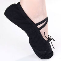 "Fashion Black Canvas Dance Acce. Ballet Shoes 7"" for Toddler Girls US Size 12#"