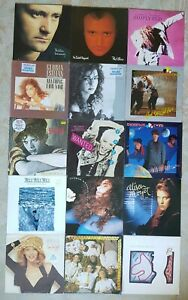 Joblot 15 Vinyl LP Records Rock And Pop 80s Kylie Simply Red Phil Collins