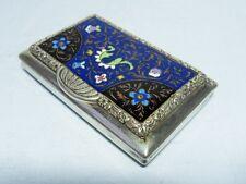 Tabak Pillen Dose  Silber Emaille  Österreich um 1829   enamel  cigarette case