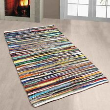 Striped Rectangle Indian Regional Rugs