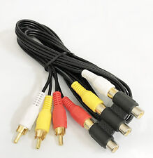 3 RCA Male to 3 RCA Female Audio Video Extension Cable - 6 Feet