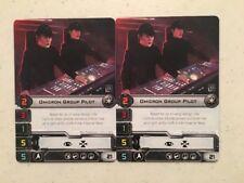 Star Wars X-Wing Game x2 Omicron Pilot Alt Art Card 2017 Official FFG OP prize